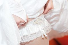 Garter bride Stock Photography