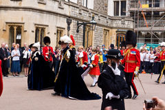Garter Day Windsor Castle Stock Photo