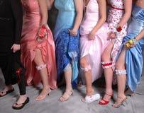 Gartered Legs. Girls with garters Stock Image