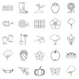 Garth icons set, outline style. Garth icons set. Outline set of 25 garth vector icons for web isolated on white background Stock Images