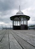 Garth pier kiosk in bangor north wales Royalty Free Stock Photography