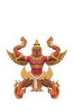 Garuda catch naga statue Stock Images