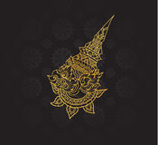 garuda characters of Ramayana,Thai Art Background pattern Stock Images