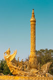 Garuda. Gold garuda.  Attractions of Ubon  Ratchathani, Thailand Stock Images