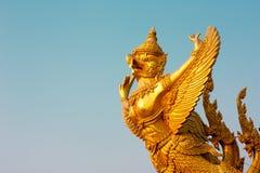 Garuda. Gold garuda.  Attractions of Ubon  Ratchathani, Thailand Stock Photos