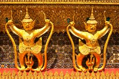 Garuda gold color Royalty Free Stock Photography