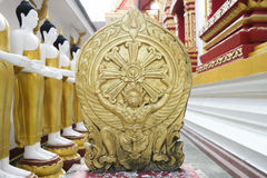 Garuda gold statue. Stock Image