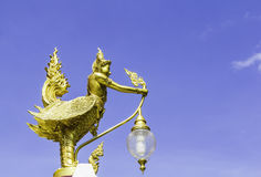 Garuda gold in temple Stock Photography