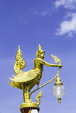 Garuda gold in temple Stock Image