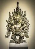 GARUDA GRABBED NAGA ROYAL VEHICLE ACCESSORY , sculpture. BANGKOK, THAILAND, FEB 3, 2017, GARUDA GRABBED NAGA ROYAL VEHICLE ACCESSORY , sculpture in National royalty free stock images