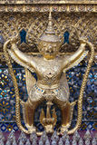 Garuda in Grand Palace. It is a large mythical bird or bird-like creature that appears in both Hindu and Buddhist mythology. Garuda is the mount (vahana) of the Royalty Free Stock Photography