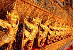 Garuda guardian around Main Hall Wat Pra Kaew Stock Photos
