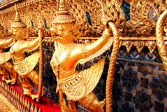 Garuda guardian around Main Hall Wat Pra Kaew Stock Photography