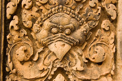 Garuda guardian  carving, Banteay Srei Temple, Cam Stock Photo