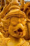 Garuda ha scolpito le candele Fotografia Stock Libera da Diritti