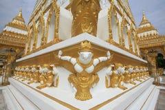 Garuda and hamuman decorations attached on pagoda Royalty Free Stock Image