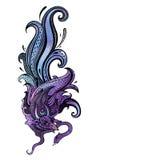 Garuda Illustrazione disegnata a mano Fotografia Stock Libera da Diritti