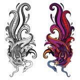 Garuda Ilustração desenhada mão Imagens de Stock Royalty Free