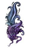 Garuda Ilustración drenada mano Fotografía de archivo libre de regalías