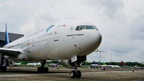 Garuda Indonesia Airplanes fotografie stock