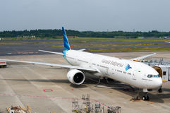 Garuda Indonesia Plane on Airport Tarmac Royalty Free Stock Images