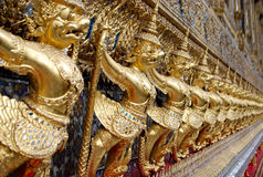 Garuda lines in Decoration of Wat Phra Keaw Royalty Free Stock Photos