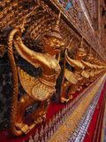 Garuda and Naga. Statues in Bangkok Royalty Free Stock Photos