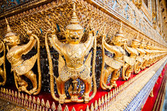 Garuda and Naga of Temple of the emerald Buddha Stock Photography