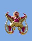 Garuda och Naga. Arkivfoto