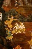Garuda Painting in Royal Palace, Bangkok, Thailand stock afbeelding