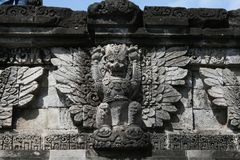 Garuda relief. Garuda god on the hindus temple panataran at java island in indonesia Stock Images