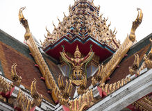Garuda on the roof of Buddhism temple Royalty Free Stock Image