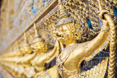 Garuda Sculpture, Bangkok, Thailand. Golden garuda statue at Wat Phra Kaew, Bangkok, Thailand Royalty Free Stock Photos
