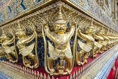 Garuda Sculptures in the Temple of Emerald Buddha. Located in Grand Place, Bangkok Thailand Royalty Free Stock Photos
