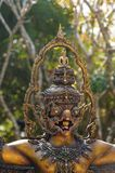 Garuda statue with buddha statue on the head, Thailand. Garuda statue with buddha statue on the head in Thailand Stock Photos