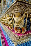 Garuda statue in the corner of temple Royalty Free Stock Photography