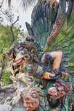 Garuda Statue i Closeup för hagtornmedeltalvilla Royaltyfria Foton