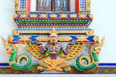 Garuda statue. The image of the garuda statue is a architecture in Thailand Stock Image