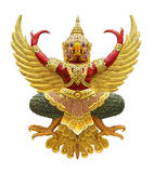 Garuda statue. Isolated on white, with clipping path Royalty Free Stock Photos