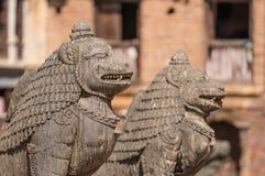 Garuda statue at Patan Dubar square Stock Photography