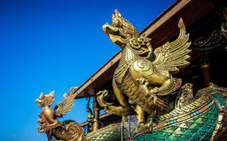 Garuda statue. In the temple Stock Photography