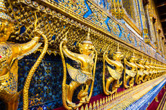 Garuda,The statues of Krut battling naga serpent, a Thai Buddhis Royalty Free Stock Images