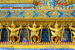 Garuda,The statues of Krut battling naga serpent, a Thai Buddhis Stock Photo