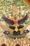 Garuda tailandês, Garuda no templo, Foto de Stock Royalty Free
