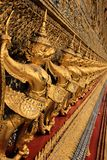 Garuda in Wat Phra Kaew. Travel in Wat Phra Kaew See Garuda gold in a beautiful arrangement Bangkok Thailand Royalty Free Stock Photos
