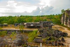 Garuda Wisnu Kencana Cultural Park. The construction of the monument of Vishnu. Bali. Indonesia. Stock Images