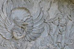 Garuda Wisnu Kencana Cultural Park. Wall statues in Garuda Wisnu Kencana Cultural Park Royalty Free Stock Photography