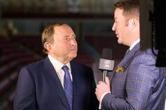 Gary Bettman NHL commissioner Royalty Free Stock Images