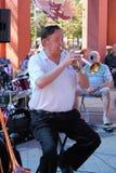 Gary Church of 52nd Street Jazz Band. CHANDLER, AZ/USA - MARCH 28: Gary Church of 52nd Street Jazz Band performs at the Chandler Jazz Festival Royalty Free Stock Photo