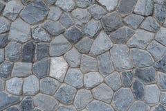Gary empilhou a parede de pedra Imagem de Stock Royalty Free